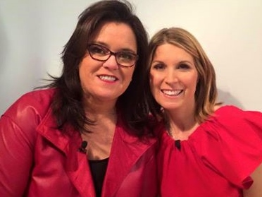 Nicolle and Rosie wear red for National Wear Red Day!